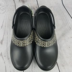 9e114dcf5dac86 CROCS Shoes - CROCS Mercy Work Black Gold Roomy Fit Clog